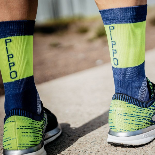 Pippo Triathlon Performance Socken Neon Gelb