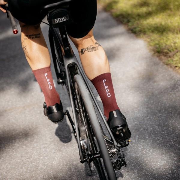Pippo Performance Socken Classic Bordeaux Rot